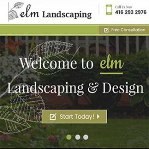 website design landscaping company