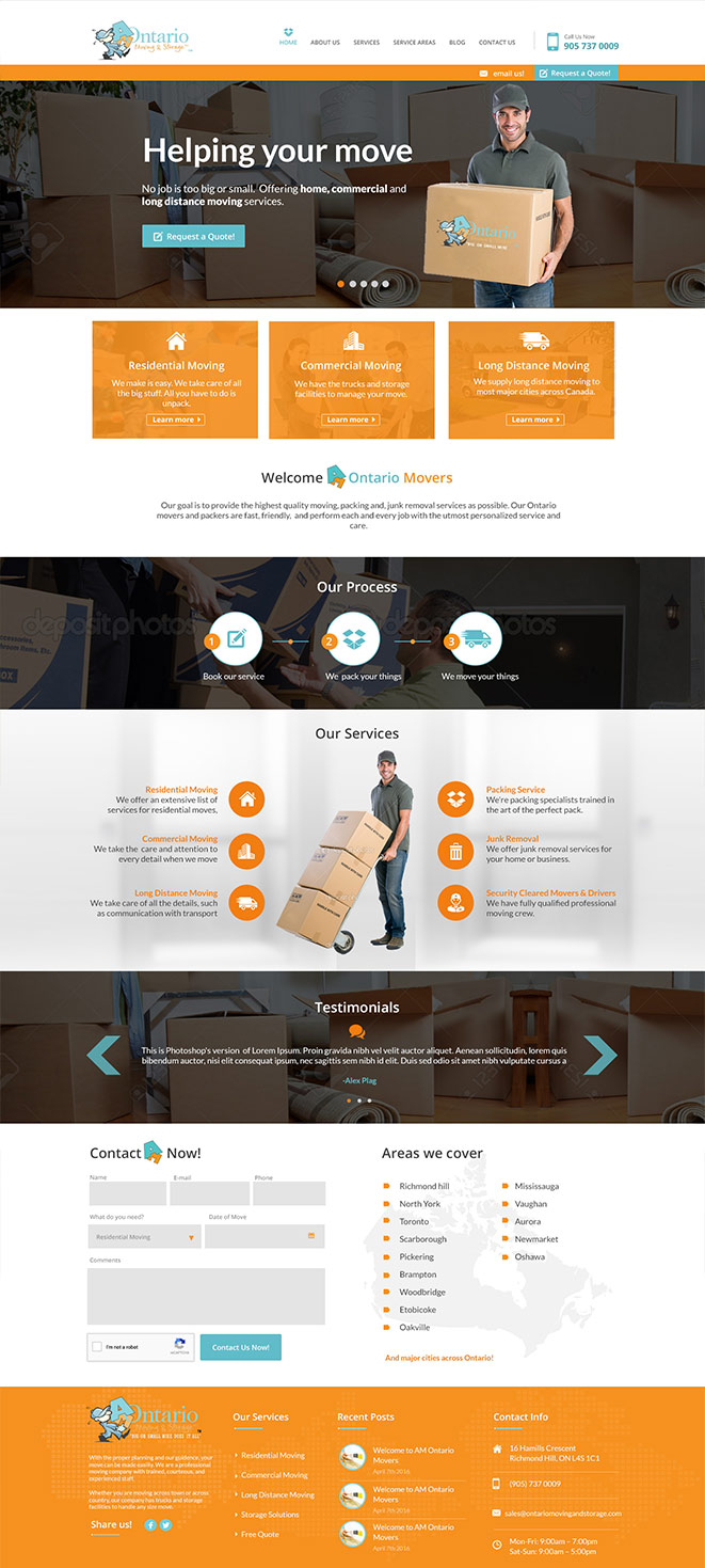 website design moving company