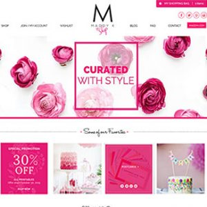 e-commerce website design event planner