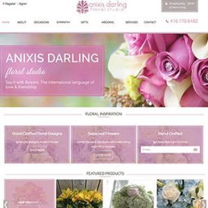 e-commerce website design flower shop