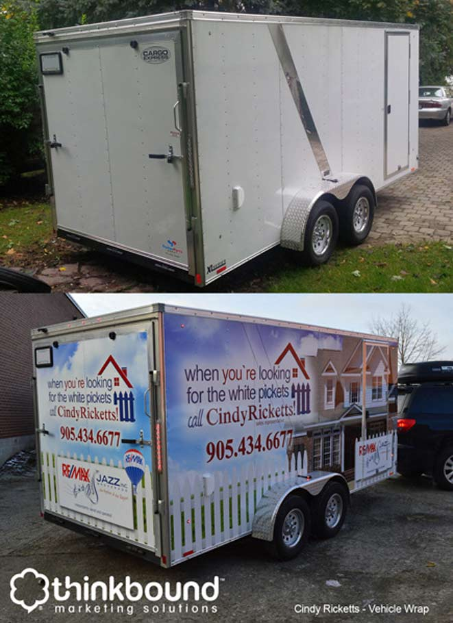 large format vehicle wrap real estate cindy ricketts