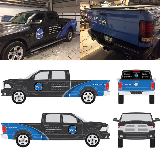large format vehicle wrap the core chiropractic