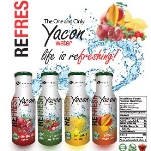 package design water bottle yacon water