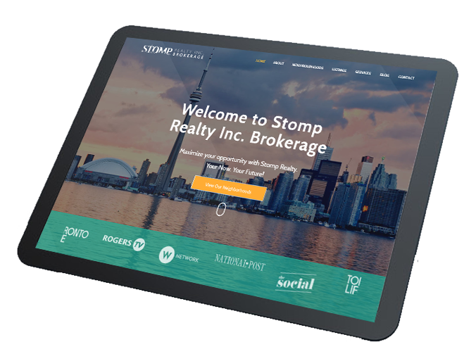 tablet website design stomp