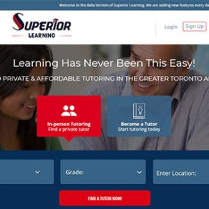 website app auction tutoring company superior learning thumb