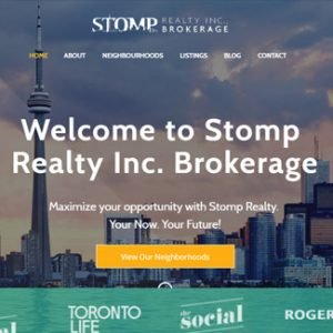 website design real estate company stomp realty