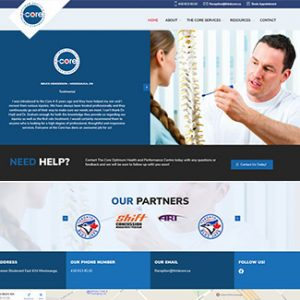 website design the core chiropractic thumbnail
