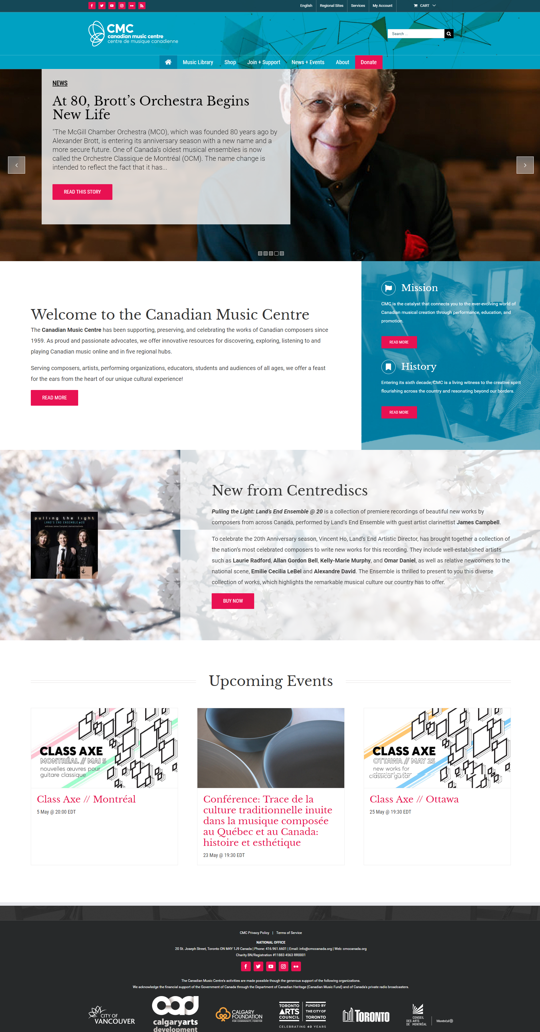 website app integration canadian music centre thinkbound