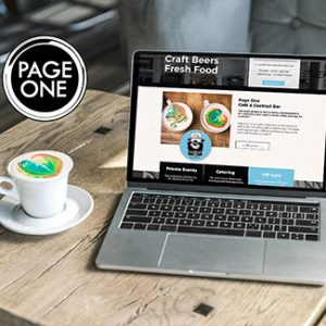 website design coffe shop website page one thumb 2